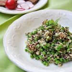 Quinoa with peas and potatoes
