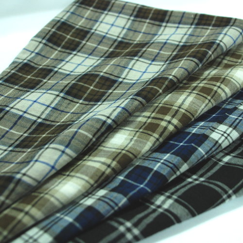 格紋  襯衫 夏季服裝布料 FC690147