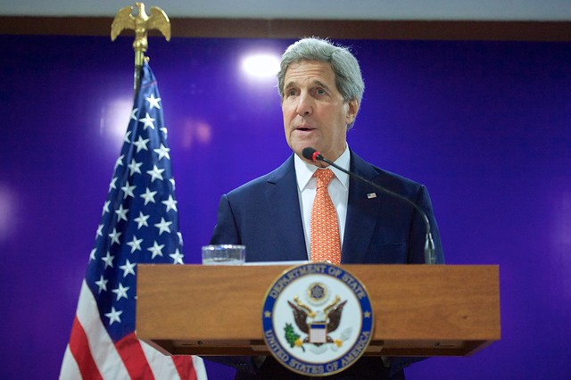 Secretary Kerry Addresses News Conference Following His Attendance at Vibrant Gujarat Summit in India