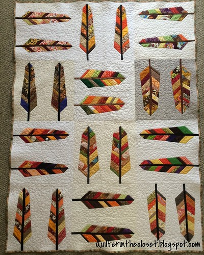 Feather Quilt Finished!