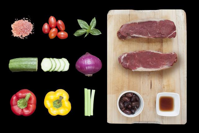 Secret Ingredient - Aqua's US Black Angus steak with panzanella salad and sherry vinigrette _raw