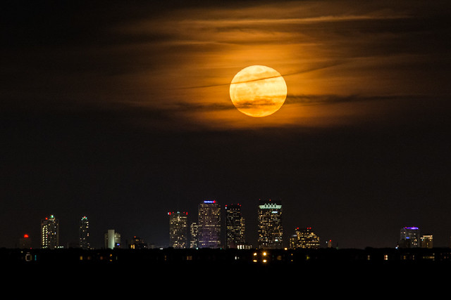 Full Moon above Tampa