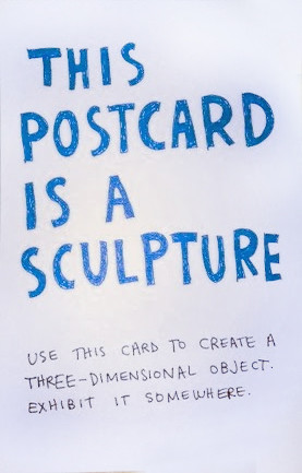 Postcard Sculpture Keri Smith