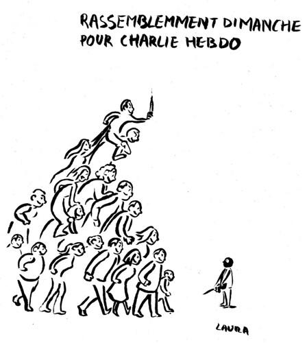 Nous sommes Charlie, par Laura LeBrun - Les étudiants du CESAN rendent hommage