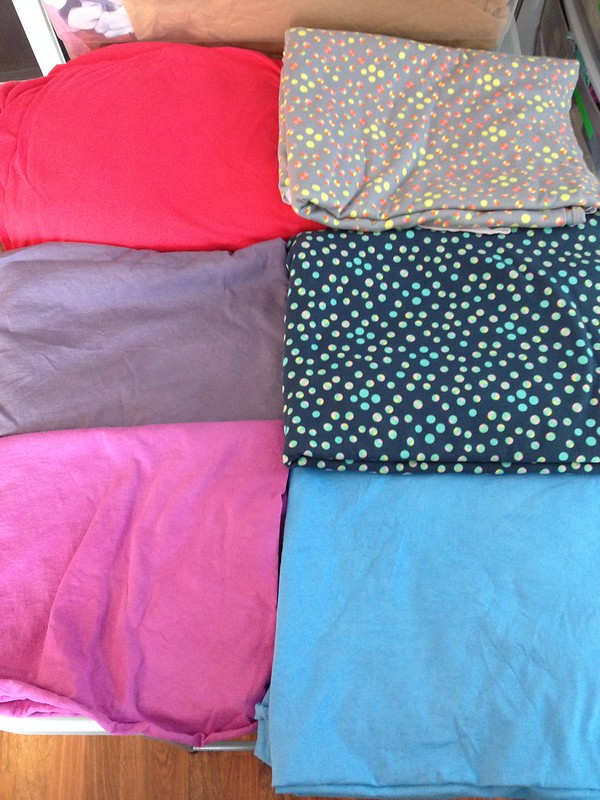 First fabrics for this year's clothes
