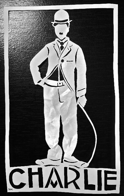 Little Tramp Paper Cutting by Hannah Kohl