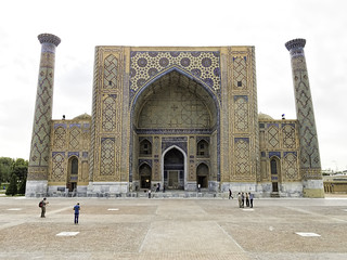 Image of  Registan square  near  Samarqand.