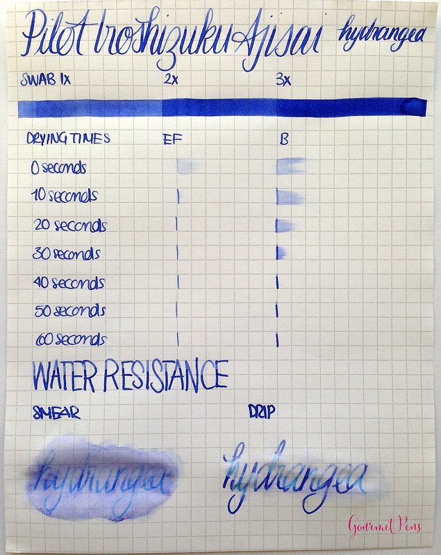 Ink Shot Review: Pilot Iroshizuku Ajisai @PilotPenUSA