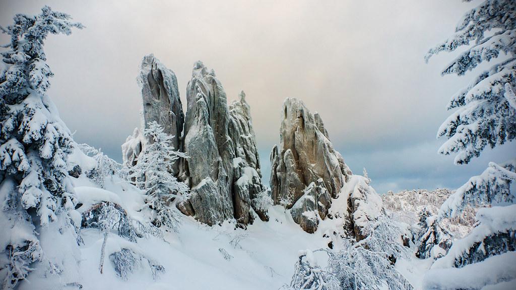 Гребни Таганая зимой / Taganay ridges
