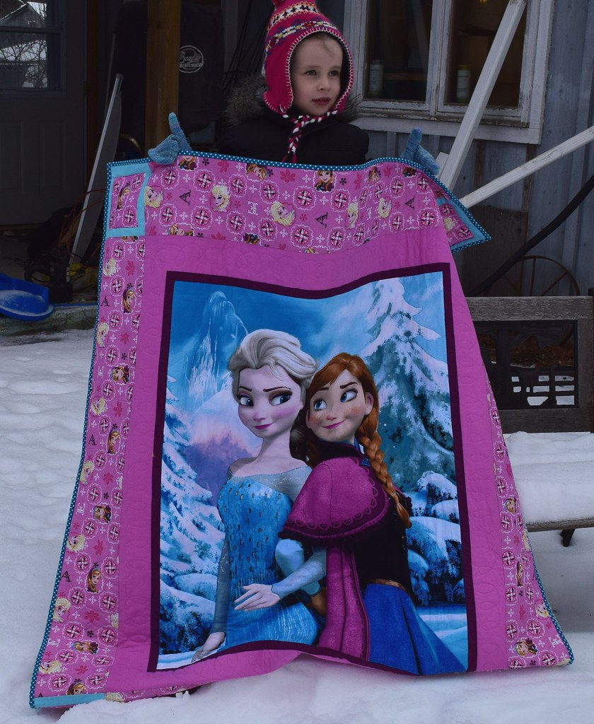 frozen quilt with quilt holder