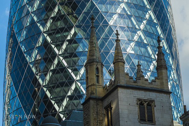 Details of The Gherkin Building