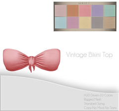 Vintage Bikini Top ~ Pastels Set