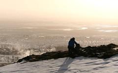 Overlooking steaming Geysir
