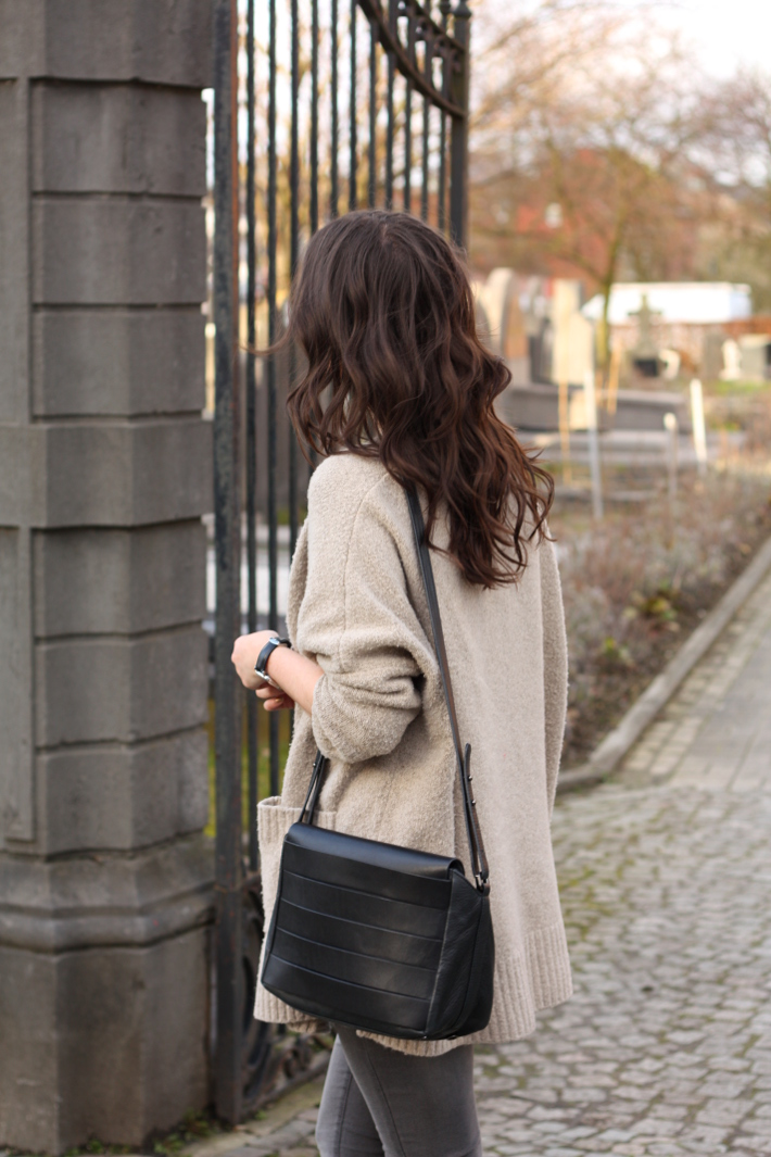 and other stories handbag, oversized Zara cardigan