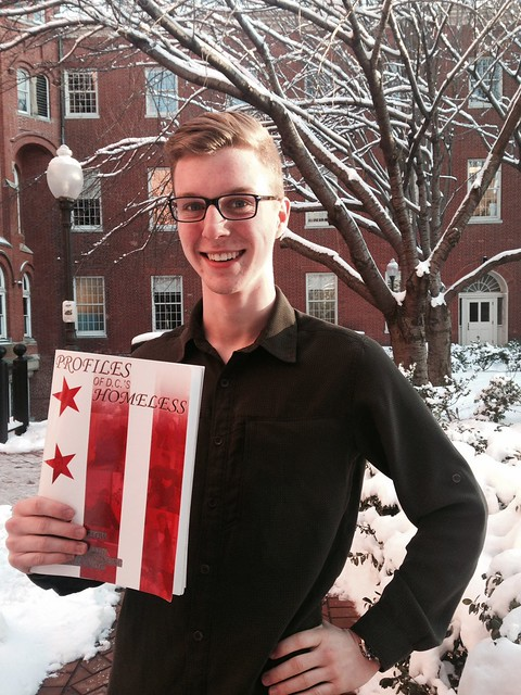 Photo of Andrew O'Brien with his book.