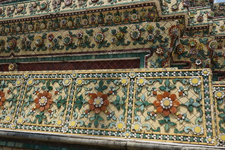 Ornate tilework at Wat Pho