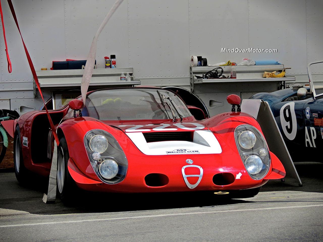 Alfa Romeo Tipo 33-2 at Laguna Seca