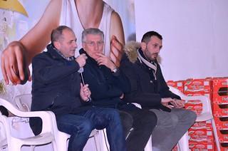 Da sx il sindaco di Conversano, Lovascio, il sindaco di Turi, Coppi e il consigliere di Turi, Palmisano