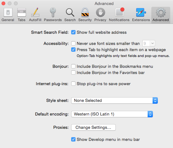 Use Safari With Infusionsoft - Show Develop Menu