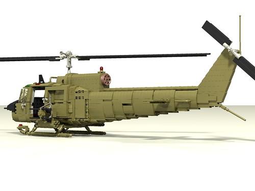 UH-1B Huey Hog rear left