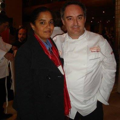 Maria Luisa Rios con Ferran Adria