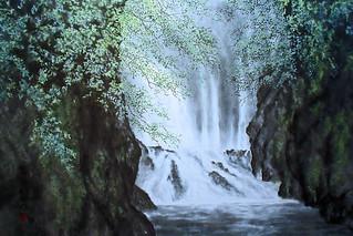"""""""Waterfall"""" (Oriental Ink painting)  梅雨半ば"""