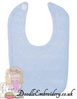 Velcro Bib - Pastel Range - Blue copy