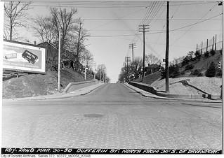 Dufferin Street north from below Davenport