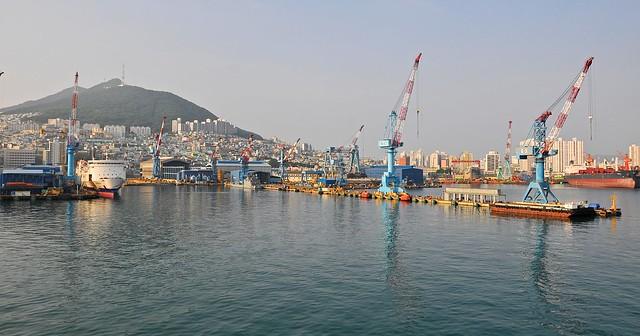 Cranes near the port