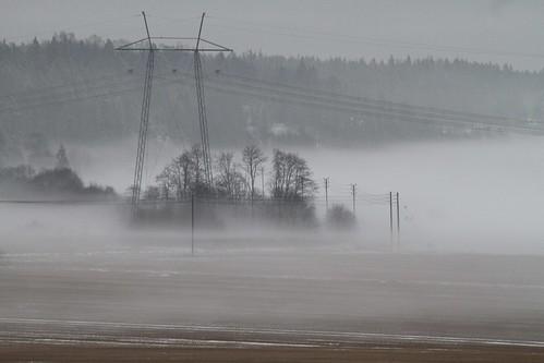 november autumn mist snow field canon landscape sigma snö höst maisema lunta sipoo syksy sibbo åker landskap dimma pelto sähköpylväs marraskuu sumua sigma70200mmf28ex elstolpe eos7d