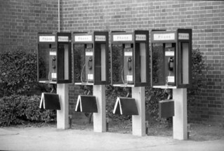 Row of phone booths on FAMU campus - Tallahassee