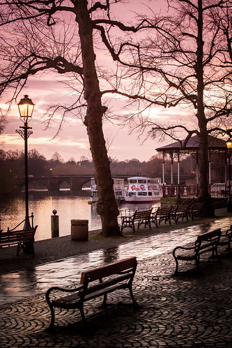 sunset river cheshire chester dee
