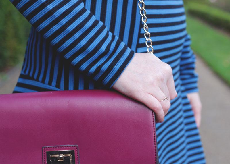 Blue Striped Dress, Bumpkin Betty
