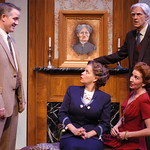 The Arvada Center presents Harvey Photo Credit: P. Switzer Photography 2015 - Pictured L-R: Torsten Hillhouse (Elwood P. Dowd),  Kate Gleason (Veta Louise Simmons), Missy Moore (Myrtle Mae Simmons).and Mark Rubald (Judge Omar Gaffney),