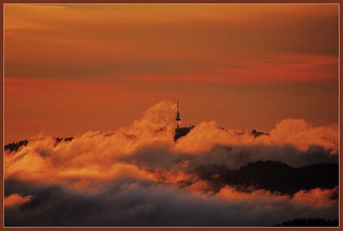 winter sunset clouds canon germany deutschland sonnenuntergang view wolken fernsehturm schwarzwald blackforest blauen badenwürttemberg belchen fernsicht eos600d