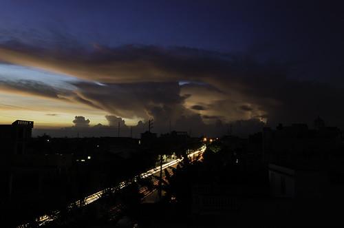 light sunset sky color landscape nikon clou d5100