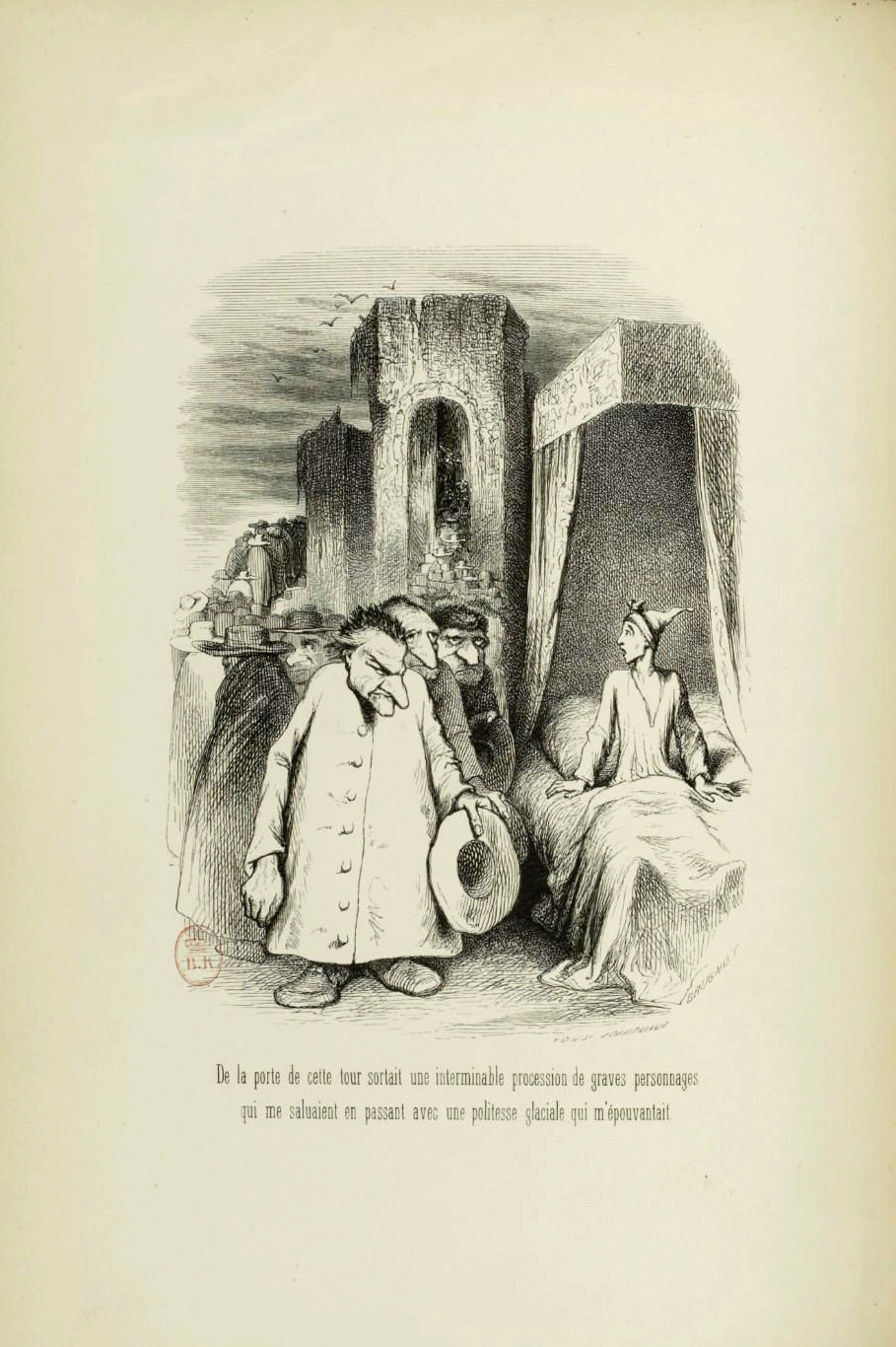 "Tony Johannot - Illustration for ""Voyage où il vous plaira"" by Musset and Stahl (1843) 22"