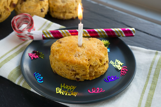 biscuit with candle