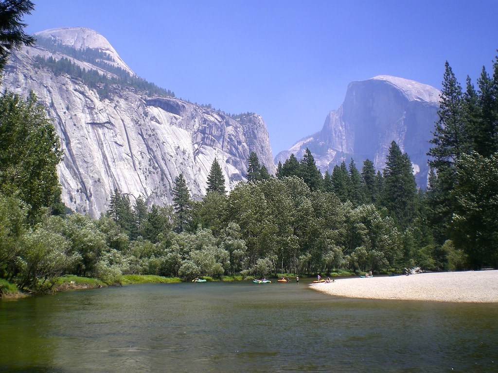 Half Dome through Yosemite Valley