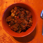 spicy vegan sausage and bean chili