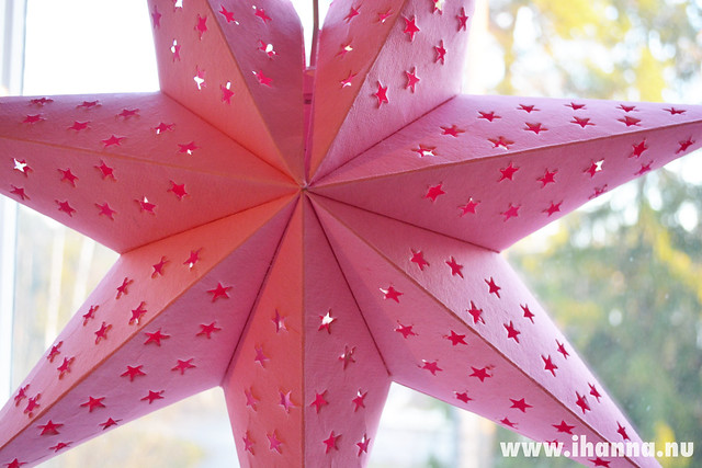 Pink Star in the Window