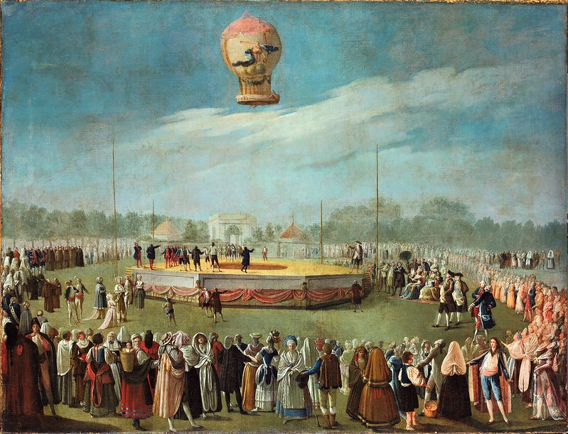 Antonio Carnicero - Ascent of a Balloon in the Presence of the Court of Charles IV (c.1783)