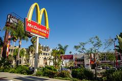Mc Donald's at Sunset Boulevard, Los Angeles, California