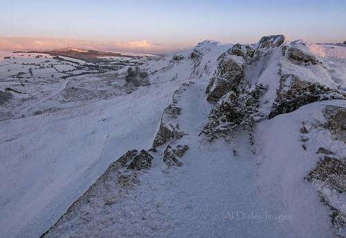 winter snow weather wales sunrise landscape hills northwales moelfamau openspaces
