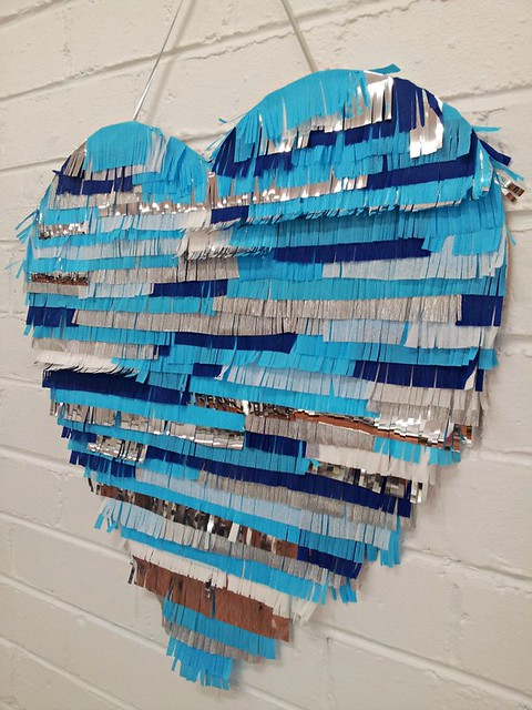 Fringed Heart Wall Decor
