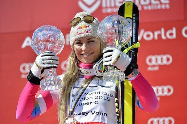 Vonn wins second Crystal Globe