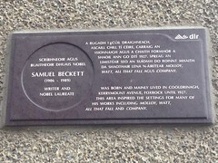 Photo of Samuel Beckett grey plaque