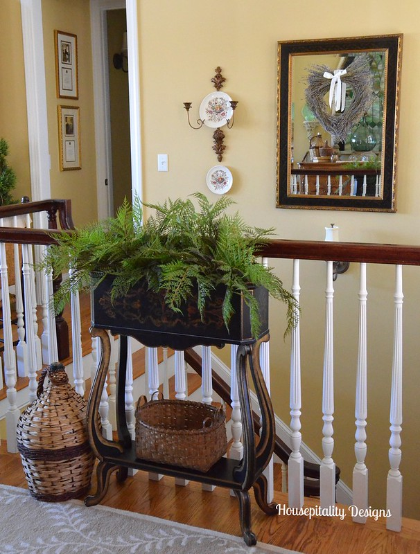 Black and gold painted plant stand-Housepitality Designs