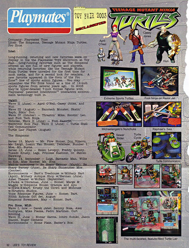 "LEE'S TOY REVIEW #xx, pg. 32 / ""TOY FAIR 2003 DECLASSIFIED"", TMNT - 2k3 Waves 2-4 peek  (( xx, 2003 ))"