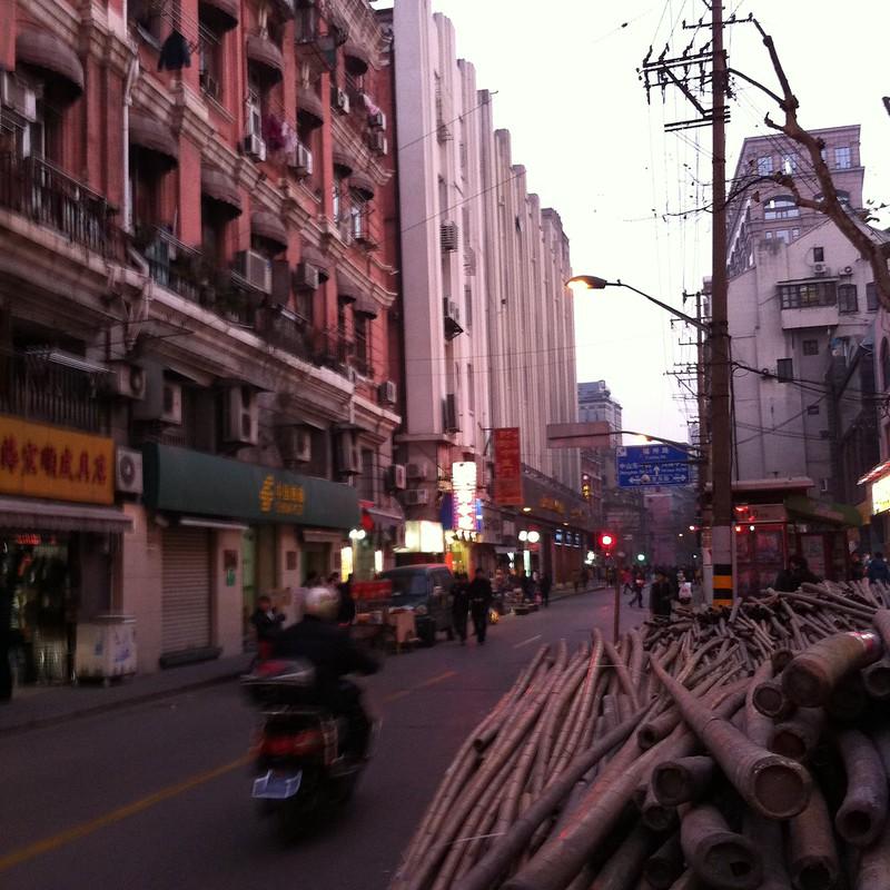 rue de Huangpu, au centre de Shanghai